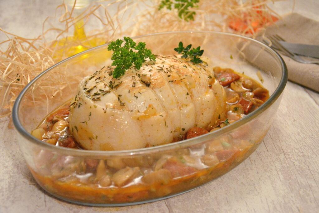 Röti de dinde chorizo et champignons - Au Fil du Thym