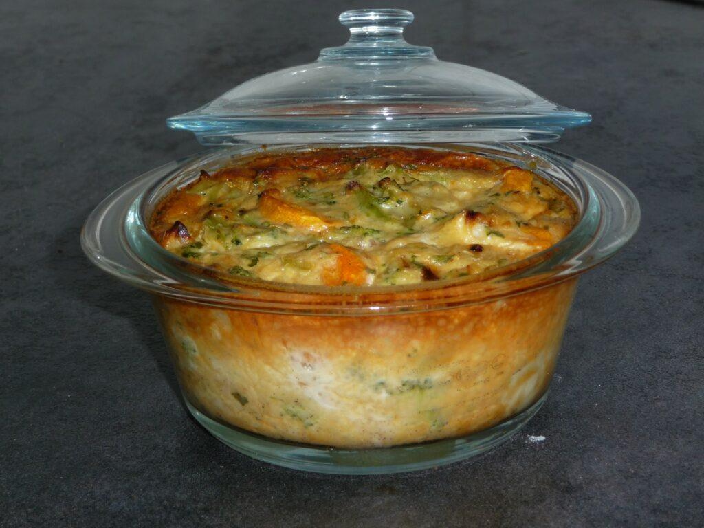 Flan automnal de brocolis et carottes au fil du thym - Cuisiner brocolis surgeles ...