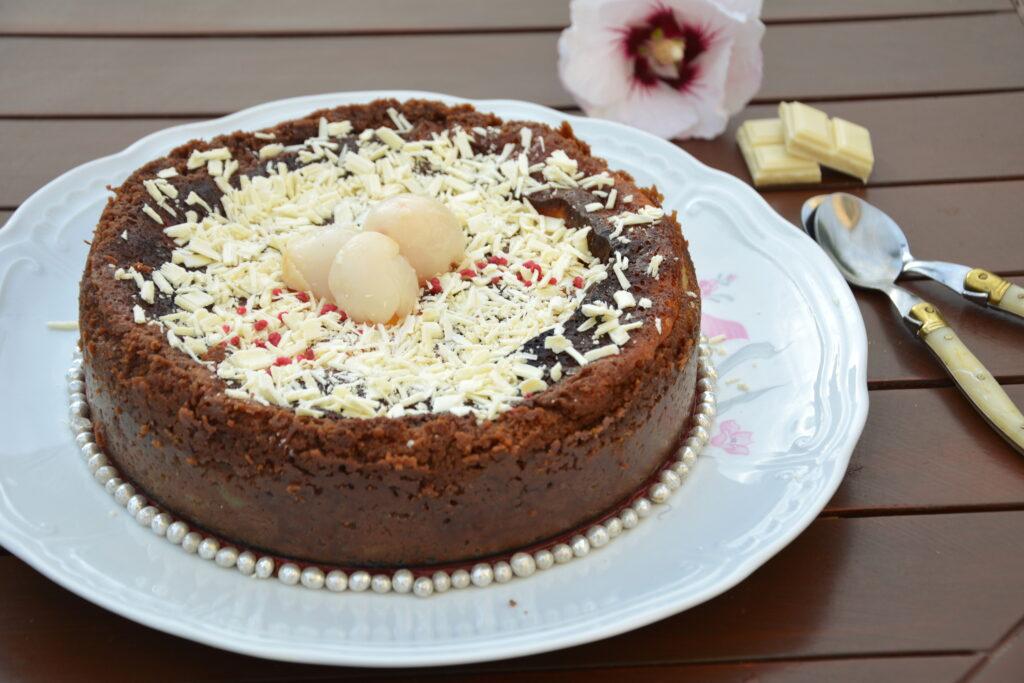 cheesecake chocolat blanc speculos litchi