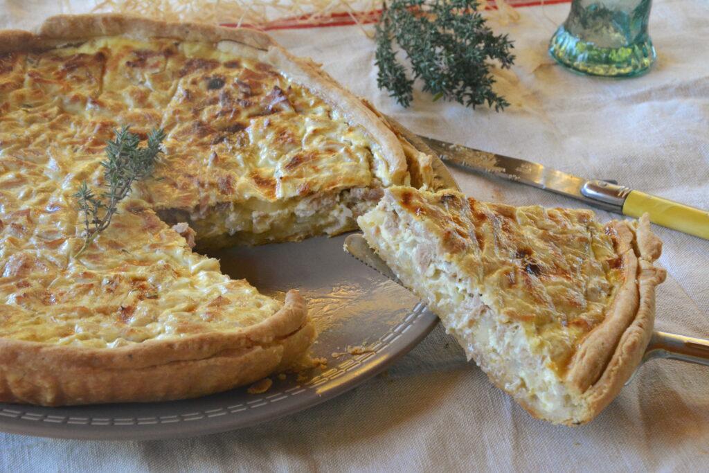 Quiche thon oignons et thym - Cuisine du placard