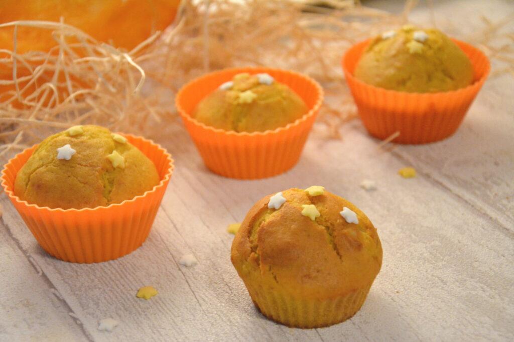 Muffins potiron amandes pour le goûter d'Halloween - Recette Halloween facile