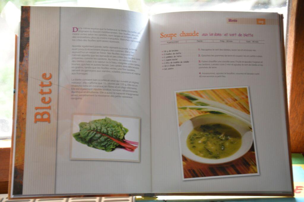 Exemple avec l'introduction et une recette avec des blette/bettes